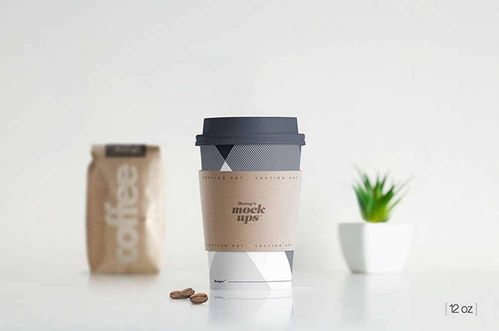 high-quality coffee paper cup mockup 4200x2800 PX