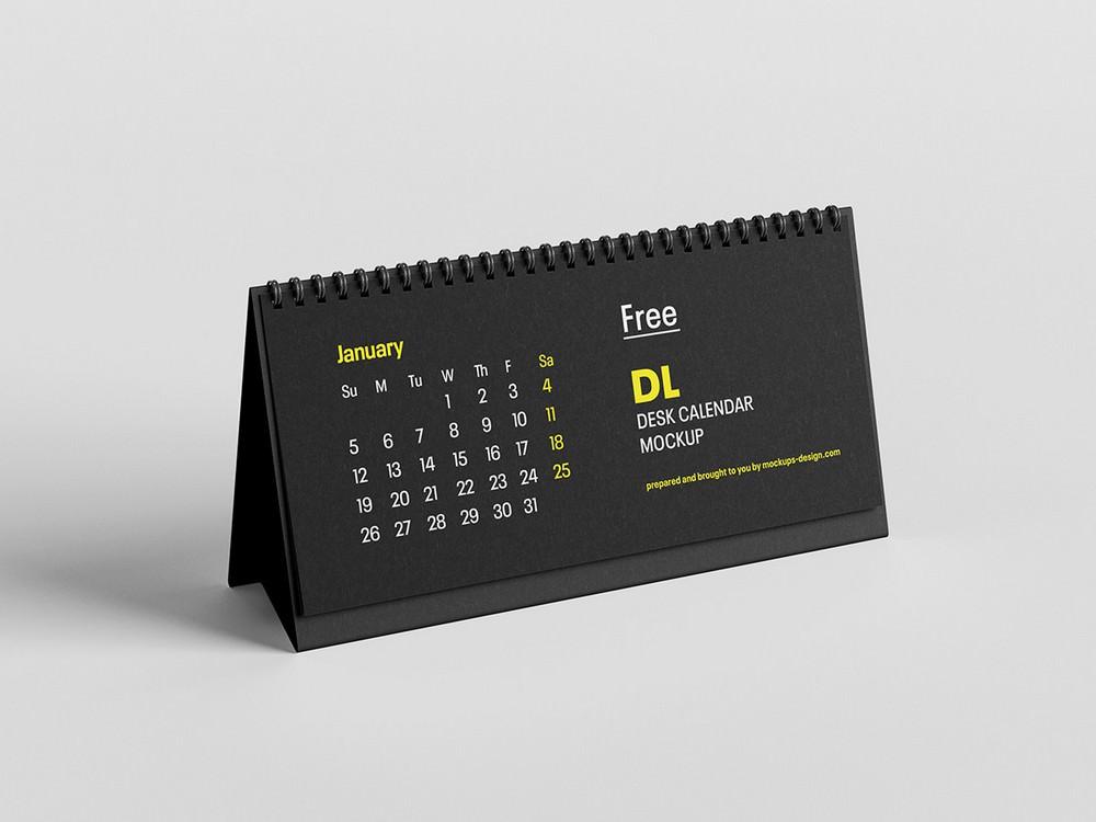 Easy to use Workspace Desk Calendar PSD Mockup