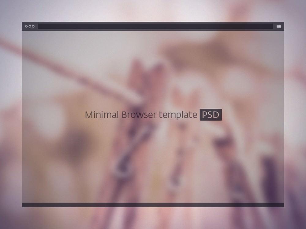 Minimal Bold Browser Mockup PSD Template