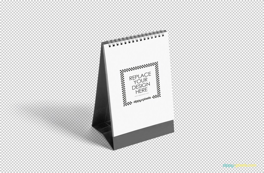 Blank Desk Calendar PSD Mockup