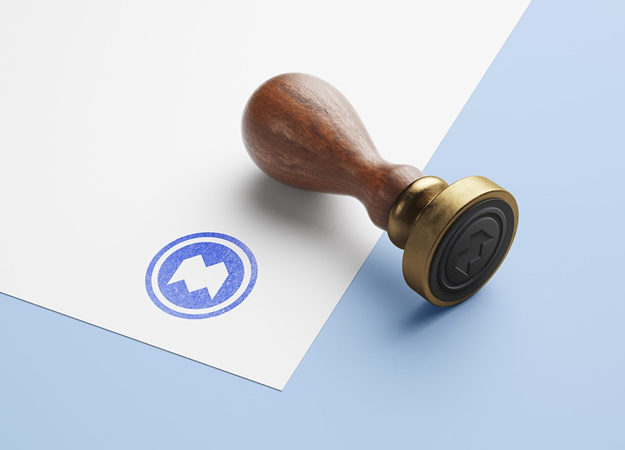 Awesome Wooden Stamp PSD Template