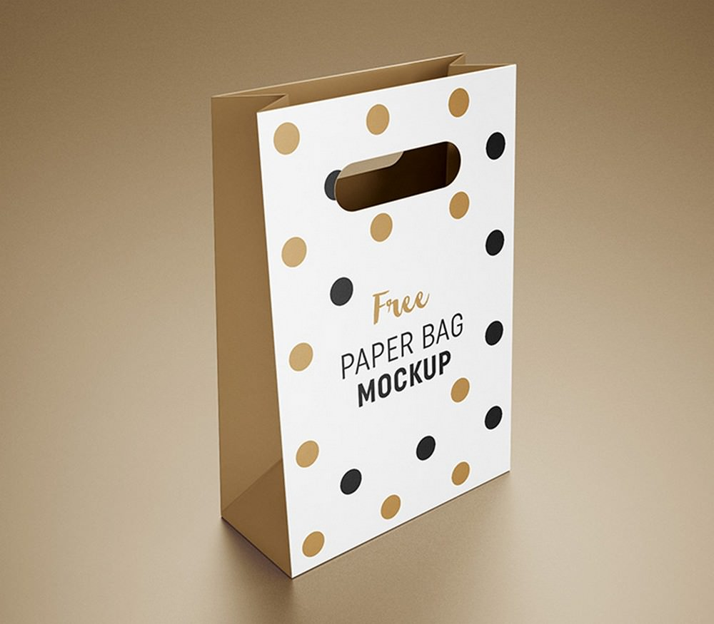 Paper Gift Bag Packaging Mockup (PSD)