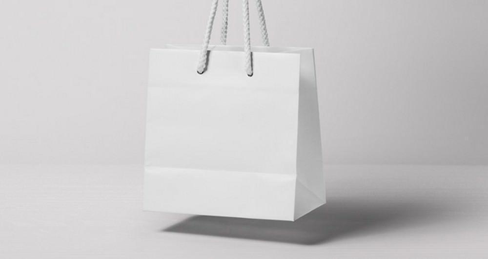 Jewelry shopping bag mockup Blank