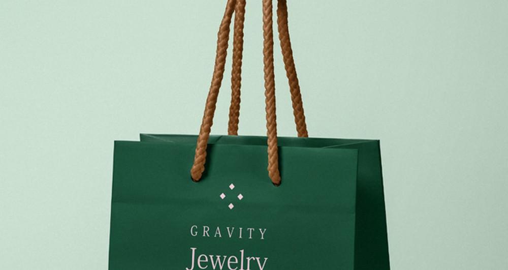 Jewelry shopping Bag Mockup (PSD)