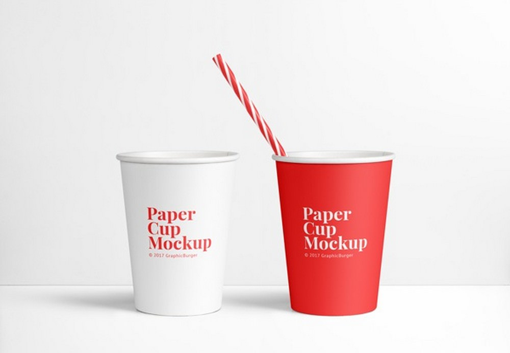 Eco-Friendly Paper Cup Mockup (PSD) 4500×3150 px
