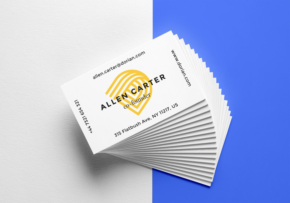 Photorealistic Business Cards Mockup (PSD) 4000×2800 px