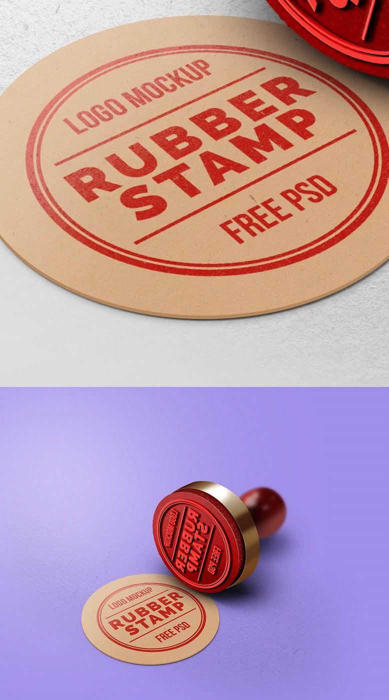 Logo Presentation Stamp PSD mockup