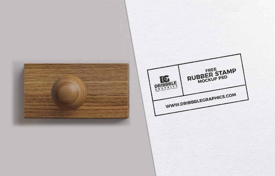 Free Rubber Stamp PSD Mockup 2400×1600