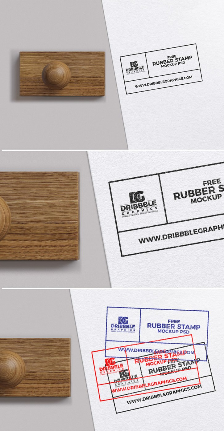 Editable Rubber Stamp PSD Mockup