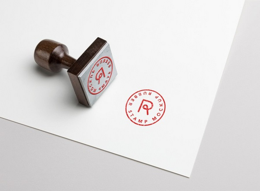 Professional Rubber Stamp MockUp Layered PSD