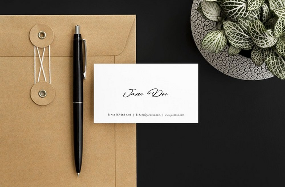 3 Authentic Photo Business Card PSD Mockups