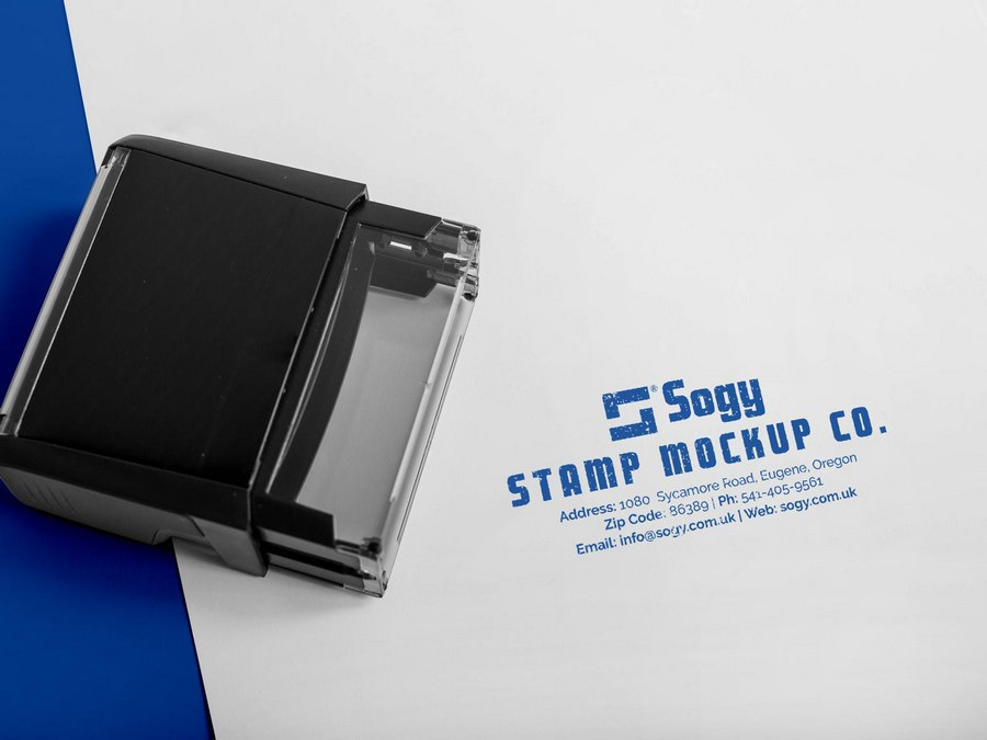 Company Rubber Stamp Mockup 4000x3000 px