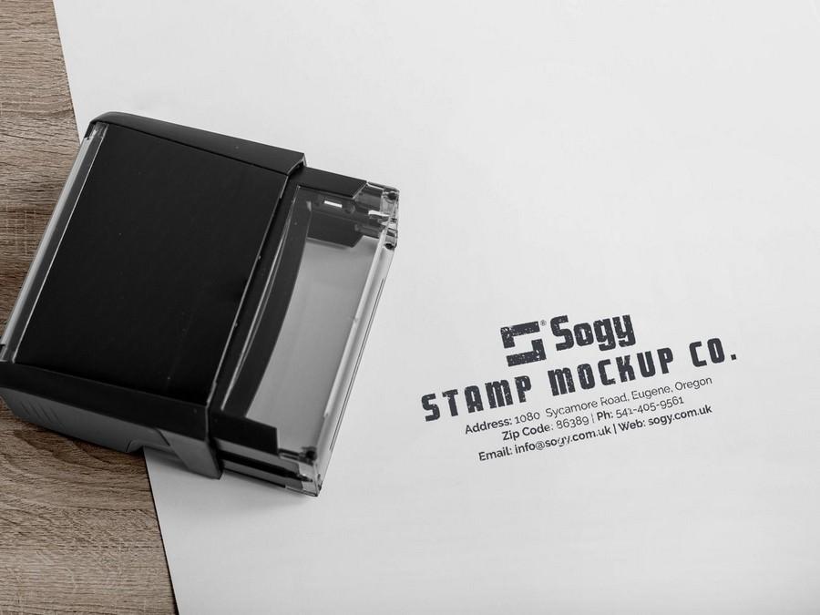 executive Company Rubber Stamp PSD Mockup
