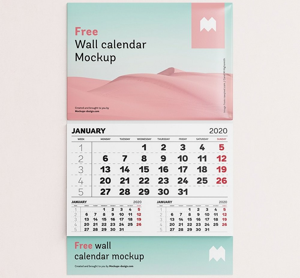 Front View calendar mockup
