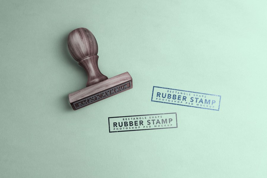 square rubber wood stamp mockup 3000x2000 px