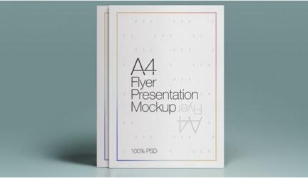 20+ Best A4 Flyer Mockups PSD Templates