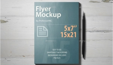 26+ Fresh A5 Flyer Mockup PSD Templates