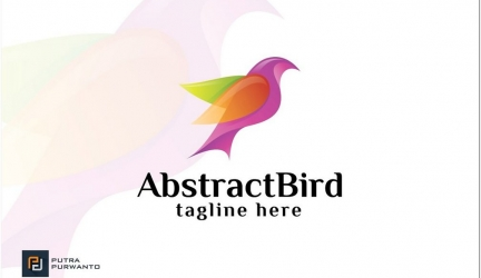 Abstract Bird Logo Design AI, EPS Format