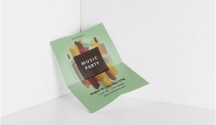 22+ Best Folded Paper Mockups Free PSD