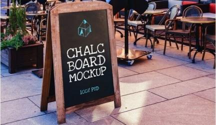 18+ Chalkboard Mockups PSD Templates