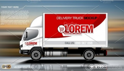 25+ Creative Truck Advertising Mockup PSD Templates